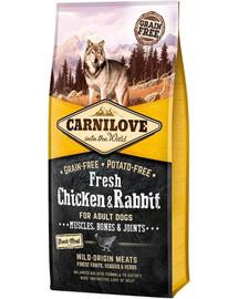 CARNILOVE Adult Fresh su vištiena ir triušiena 12 kg