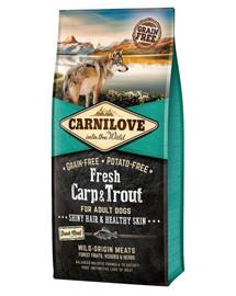 CARNILOVE Adult Fresh su karpiu ir upėtakiu 12 kg