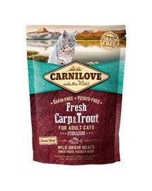CARNILOVE Adult sterilised fresh karpiai ir upėtakiai 400 g