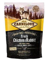 CARNILOVE Fresh Adult vištiena ir triušiena 1,5 kg