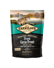 CARNILOVE Adult fresh karpiai ir upėtakiai 1,5 kg