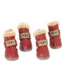 """""""ZOLUX"""" šuniniai bateliai T4 (5,5 x 4,5 cm viršutinio aukščio 8 cm) raudoni 4 vnt."""