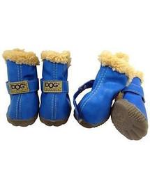 ZOLUX T2 šunų batai (4,5 x 3,5 cm viršutinio aukščio 7 cm) Mėlyni 4 vnt.