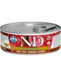 FARMINA N&D Cat Quinoa Vension & Coconut konservai 80 g