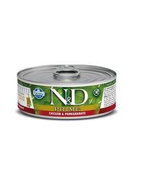 FARMINA N&D PRIME Chicken & Pomegranate Kitten Canned konservai 80 g