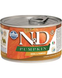 FARMINA N&D Pumpkin & Quail konservai su pupelėmis ir moliūgais 140 g