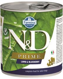 FARMINA N&D Prime Lamb & Blueberry konservai šunims su ėriena ir mėlynėmis 285 g