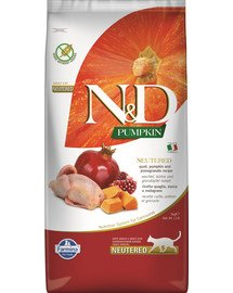 FARMINA N&D Pumpkin Cat Neutered Quail & Pomegranate 5 kg