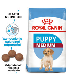 ROYAL CANIN Medium junior 15 kg + 3 kg gratis