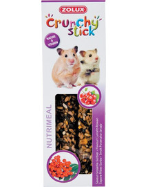 Zolux Crunchy Stick burbuolės žiurkėnams su serbentais ir šermukšniais 115 g