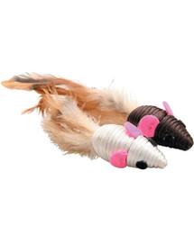 Zolux žaisliukai katėms - 2 pelės su plunksnomis 5 cm