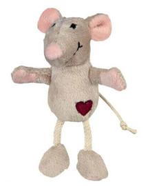 Trixie pliušinė pelė smėlinė 11 cm