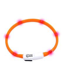 KARLIE LED apykaklė 35 cm oranžinė
