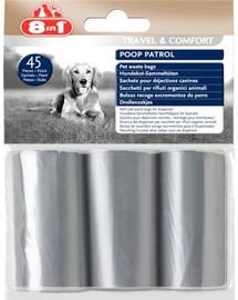 8In1 Poop Patrol Pet Waste Bags Refill maišeliai ekskrementams rinkti 3 rulonėliai