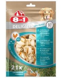 8In1 skanėstas Dental Delights Bones XS 21 vnt.