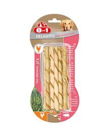 8In1 skanėstas Delights Pork Twisted Sticks 10 vnt.