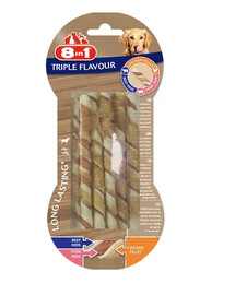 8IN1 Triple Flavour Twisted Sticks lazdelės kramtymui 10 vnt.