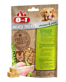 8IN1 Meaty Treats skanėstai su vištiena ir žirniais 50 g