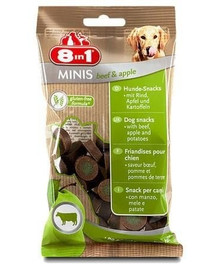 8In1 skanėstas Minis Beef & Apple 100 g