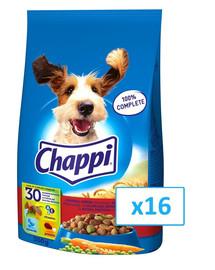 CHAPPI sausas maistas šunims su jautiena, vištiena ir daržovėmis 0.5 kg x16