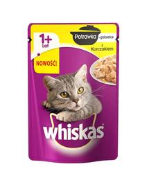 Whiskas troškinys drebučiuose (1+ metai) su vištiena 28 X 85 g