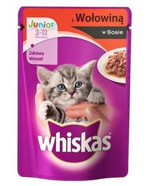 Whiskas Junior ėdalas su jautiena padaže 100 g