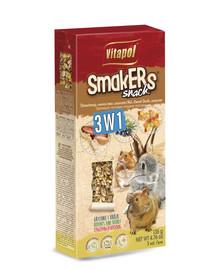 VITAPOL Smakers 3x1 graužikams (riešutai / miško uogos / spragėsiai) 3vnt.