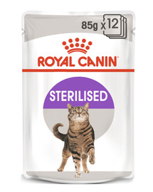 ROYAL CANIN Cat Sterilised konservai drebučiuose 12 x 85 g