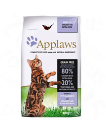 APPLAWS Dry cat Adult vištienos ir antienos maistas suaugusioms katėms 2 kg