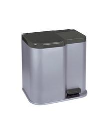 CURVER Šiukšlių rūšiavimo šiukšliadėžė  DUO 21l sidabrinė / tamsiai pilka