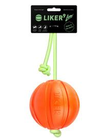 LIKER LUMI šunų kamuolys ant šviečiančios virvelės 9 cm