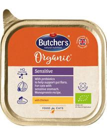 BUTCHER'S Organic Sensitive vištienos monoproteinų kačių maistas 85 g