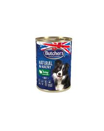 BUTCHER'S Natural&Healthy Dog su kalakutienos gabalėlais 400 g