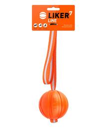 LIKER LINE Dog toy kamuoliukas su virvė  šuniukui  7 cm