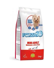 FORZA 10 Mini Maintenance elniena ir bulvės sausas maistas suaugusiems mažų veislių šunims 2 kg