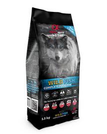 ALPHA SPIRIT Pilnavertis sausas minkštas maistas šunims  Wild fish 1,5 kg