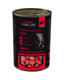 FITMIN For Life Dog Beef šunų maistas be grūdų , jautiena 400 g