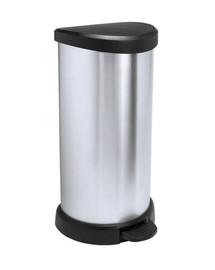 """CURVER Šiukšliadėžė """"DECO BIN 40 l"""" juodas / metalizuotas sidabras"""