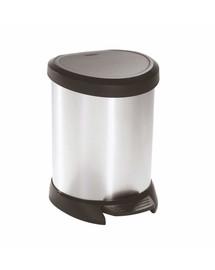 CURVER Šiukšliadėžė 5l  juodas / metalizuotas sidabras