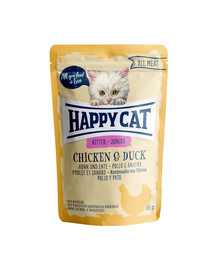 HAPPY CAT All Meat Junior Huhn & Ente 85g vištiena ir antis