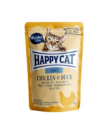 HAPPY CAT All Meat Adult Huhn & Ente 85 g vištiena ir antis