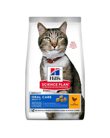HILL'S Science Plan Cat Adult Dry Chicken Oral Care 7 kg