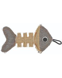 BARRY KING Žuvies griaučiai pagaminti iš stiprios pilkos / kreminės medžiagos 14 x 7,5 cm
