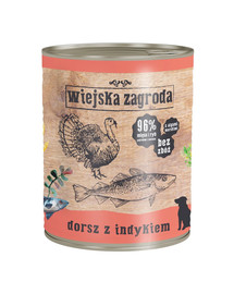 WIEJSKA ZAGRODA Menkė su kalakutiena 800 g maistas be grūdų