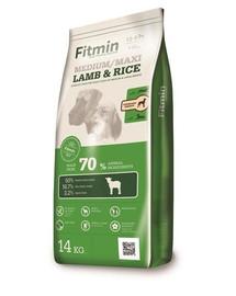 FITMIN Medium Maxi lamb&rice su aviena ir ryžiais vidutiniams ir dideliems šunims 14 kg