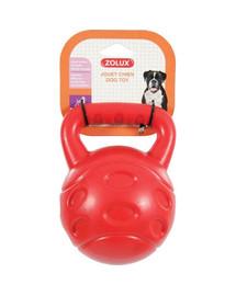 Zolux žaisliukas TPR Bubble kamuoliukas su rankena 15 cm raudonas