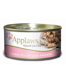 Applaws konservai katėms su tunu ir krevetėmis 156 g