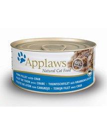 Applaws konservai katėms su tunu ir krabais 70 g