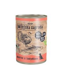 WIEJSKA ZAGRODA Menkė su kalakutiena 400 g maistas be grūdų