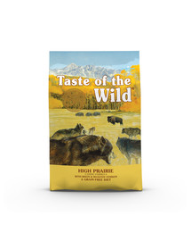 TASTE OF THE WILD High Prairie 12,2 kg su bizono mėsa ir kepta elniena